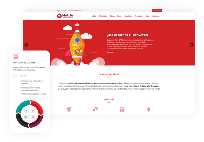 Diseño web wordpress Corporativa