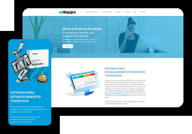 Diseño web wordpress landing page