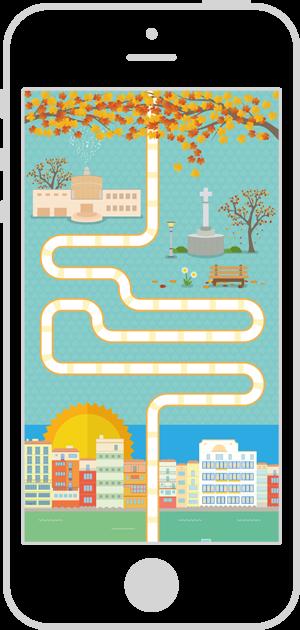 Diseño interfaz de usuario aplicación móvil Ruta GironaQuiz 2