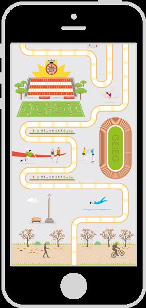 Diseño interfaz de usuario aplicación móvil Ruta GironaQuiz 3