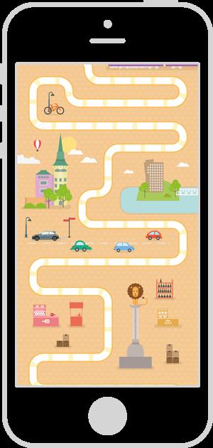 Diseño interfaz de usuario app Ruta GironaQuiz 1